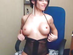 Lingerie, Babe, Big Tits, Boobs, Lingerie, Masturbation