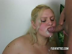 Fat, BBW, Big Tits, Blonde, Blowjob, Chubby