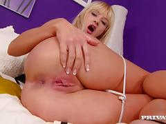 Superb Natalli Di Angelo gets her pink pussy and ass fucked