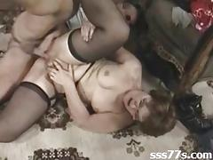 Anal orgy with hot older women who love it wh