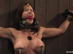 Bound, BDSM, Big Tits, Bound, Brunette, MILF