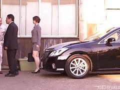 Japanese Office Lady Tamaki Nakaoka Blowjobs in the Factory