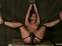 Amber Rayne gets her ass and vag unforgettably toyed in BDSM scene