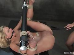 Phoenix Marie gets her pussy destroyed by Steven St. Croix in BDSM scene porn video