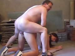 Old and Young, Blowjob, Brunette, Couple, Riding, Old and Young