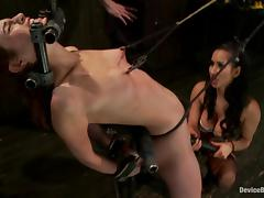 Hot Amber Rayne gets whipped and then toyed with a vibrator