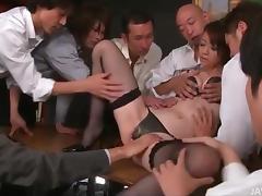 Japanese, Asian, Group, Japanese, Lingerie, Office
