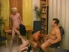 Three Bisexual Dudes Have Hot Fun With A Busty Broad