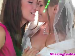 Bride, Babe, Bride, Fingering, Friend, Girlfriend