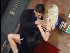 Claudia Ricci enjoys terrific oral sex and gets fucked in standing pose
