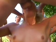 Breathtaking blonde performs a deepthroat and has anal sex porn video