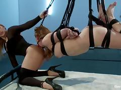 Juicy mistress Lea suspends Sovereign and wires her porn video