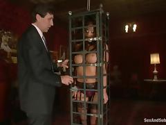 Amazing Mia Lelani gets toyed and fucked in bondage video porn video