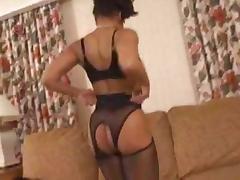 Sexy Ebony Milf Fucks White Boy