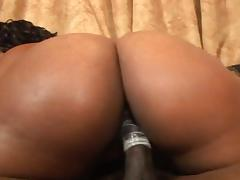 Red-hot ebony slattern gets pounded into heaven porn video