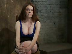 Big breasted Iona Grace gets abashed in bondage video