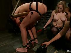 Neglected Strapon Fucking in Servitude Femdom Faggot Video