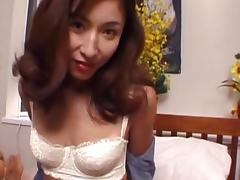 Asian cutie with full lips drag inflate a pity