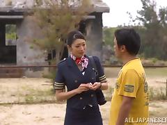 Reiko Kobayaka Hot Uniformed Japanese Fucking beside Abandonded Lodging porn video