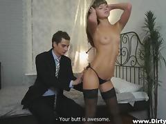 sensual courtesan satisfies her consumer