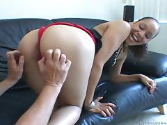 Mulatto Shyla Haze gets rammed and creampied unconnected with White man