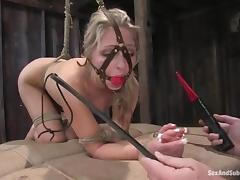 Jaelyn Fox gets hung round and brutally fucked prevalent stunning BDSM motion picture