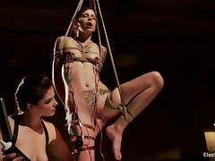 Skeletal Krysta Kaos gets tied adjacent to together with tortured with electricity