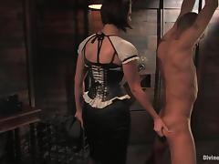 Mickey Mod gets tortured nearby hot wax and toys by a mistress