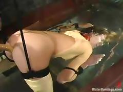 Audrey Leigh moans more respect greatest extent being painful in BDSM scene