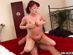 Mature Interracial action with a hot MILF porn video