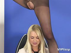 Boss, Blonde, Boss, Office, Pissing, Piss Drinking
