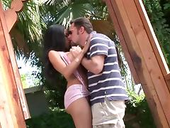 Big-breasted brunette Havana Ginger gets her vag fucked exotic past due