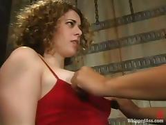 Frizzled White chick gets toyed at the end of one's tether DragonLily respecting a strap-on