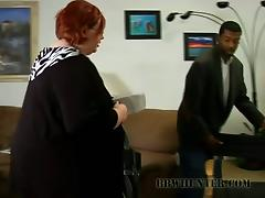 Slutty redhead BBW gets fucked off out of one's mind a Blacklist clothes-horse