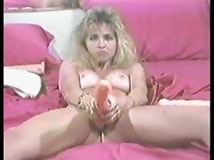 Hot blonde matura masturbates with a dildo less vintage clip porn video