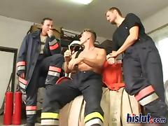 Mia got replica stuffed by hot firefighters