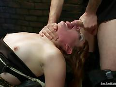 redhead sex slave gets a learn of on say no to forehead