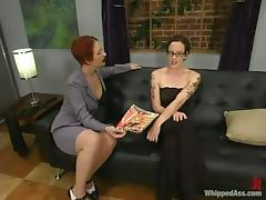 Nina moans in pleasure while being tortured by hot chick Sonya