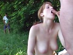 Veronica is sucking dick on the fresh air