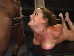Stunning Christina Carter gets bound and face fucked