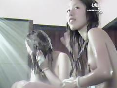 Asian girls get their bodies in foam in the shower dvd 03308