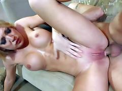 Young looking slim blonde Amy Brooke with fit body and porn video