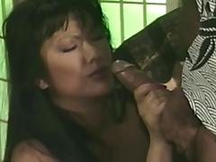 Nasty Asian milf Mai Lynn enjoys sucking a fat cock