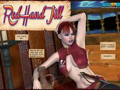 3D Comic: Red Hand Jill. Episodes 1-2