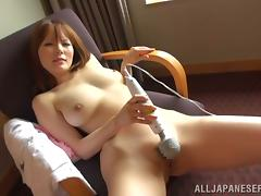 Gorgeous babe Risa Arisawa is loving two men at a time
