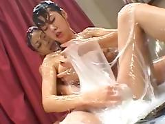 Japanese babes playing with sex toys and having fun