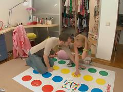 Game of Twister Ends with Blonde Stunner Getting Fucked