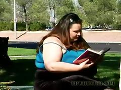 Busty BBW Gets Big Hard Shaft Deep Into Her Fat Vagina