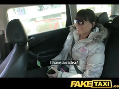 This Sexy Ass Teen Brunette Falls for Fake Fuck Taxi!