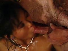 Asian glamour girl gets fucked in the bathroom